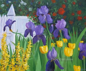 yxf016bE impressionism garden Oil Paintings