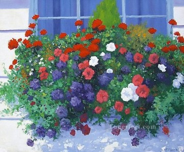 yxf022bE impressionism garden Oil Paintings
