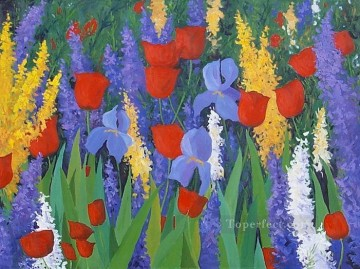yxf027bE impressionism garden Oil Paintings