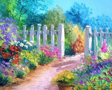 yxf042bE BT garden Oil Paintings