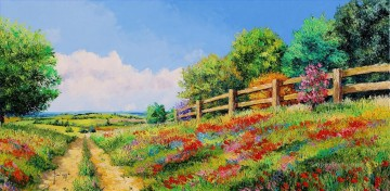 COUNTRY PATH garden Oil Paintings