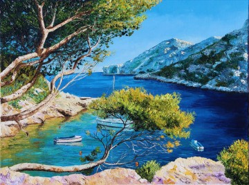 Cove of Morgiou garden Oil Paintings