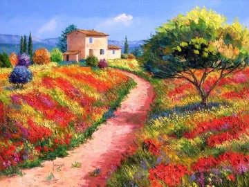 French Landscape garden Oil Paintings