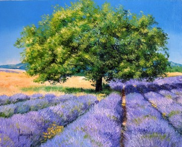 LAVENDER FIELD garden Oil Paintings