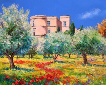Le chateau de Lourmarin garden Oil Paintings