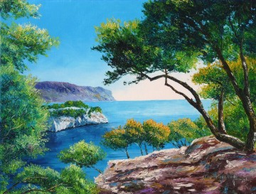 Port Miou Cove of Cassis France garden Oil Paintings