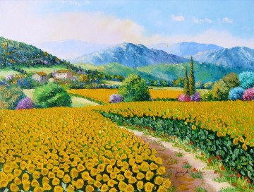 sunflowers Painting - Sunflowers garden
