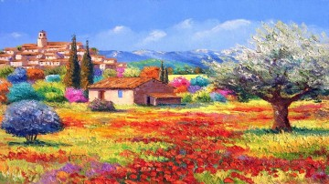 le village perche garden Oil Paintings