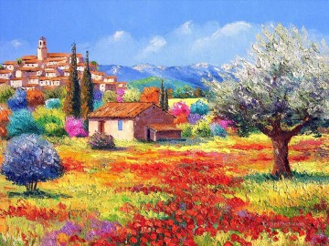 PLS02 beautiful landscape garden Oil Paintings
