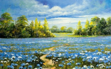 PLS08 beautiful landscape garden Oil Paintings