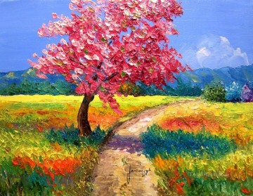 PLS11 beautiful landscape garden Oil Paintings