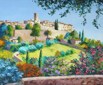 PLS16 beautiful landscape garden Oil Paintings