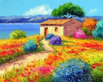 PLS22 beautiful landscape garden Oil Paintings