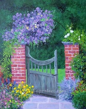yxf014bE impressionism garden Oil Paintings
