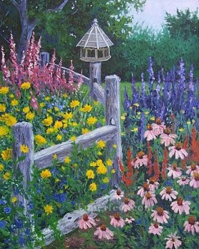 yxf017bE impressionism garden Oil Paintings
