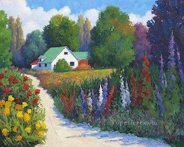 yxf023bE impressionism garden Oil Paintings