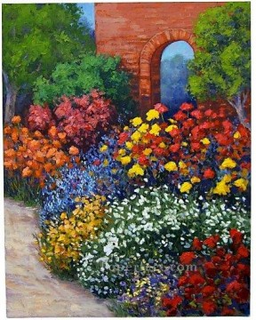 yxf028bE impressionism garden Oil Paintings