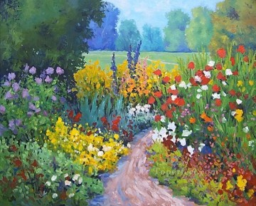 yxf030bE impressionism garden Oil Paintings