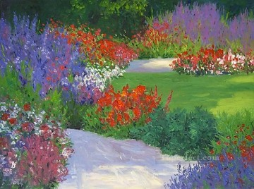 yxf031bE impressionism garden Oil Paintings