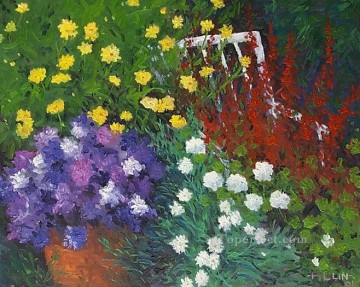 yxf033bE impressionism garden Oil Paintings
