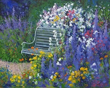 yxf037bE impressionism garden Oil Paintings