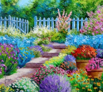 yxf040bE BT garden Oil Paintings