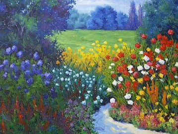 yxf040bE impressionism garden Oil Paintings