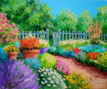 yxf055bE BT garden Oil Paintings