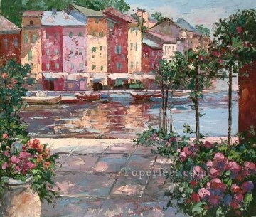 yxf106eB scenery impressionist floral garden Oil Paintings