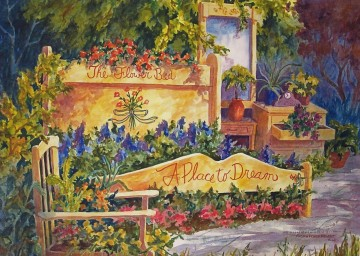 FLOWER BED 300 garden Oil Paintings