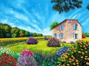 FLOWERED garden Oil Paintings