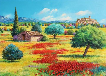 Provencal countryside garden Oil Paintings