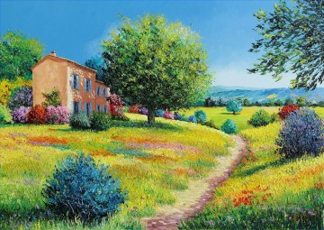 SUMMER HOUSE garden Oil Paintings