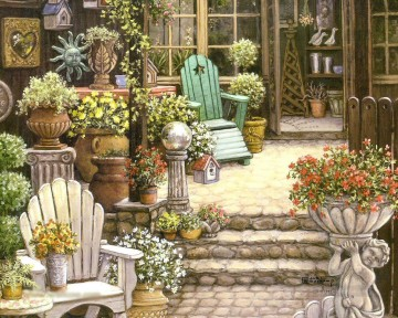 miss trawicks garden shop Oil Paintings