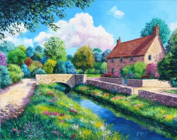 stonebridge garden Oil Paintings