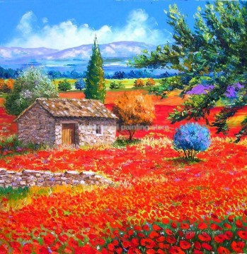 PLS20 beautiful landscape garden Oil Paintings