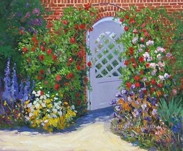 yxf034bE impressionism garden Oil Paintings