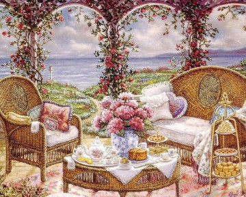 afternoontea garden Oil Paintings