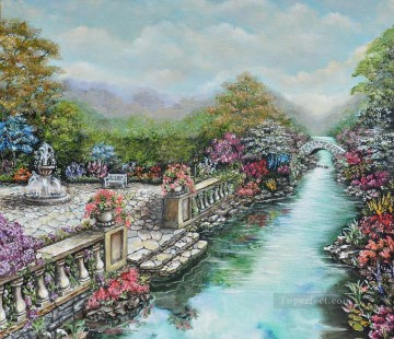 english garden Oil Paintings