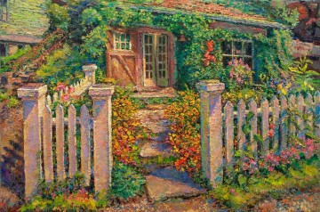 studio garden gate afternoon Oil Paintings