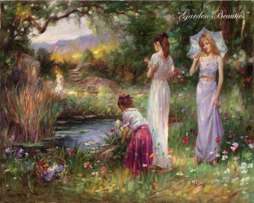 Garden Beauties girls Oil Paintings