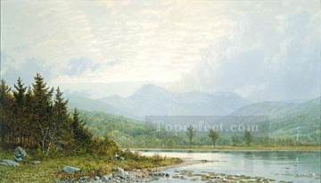 Sunset Art - Sunset On Mount Choconua New Hampshire scenery William Trost Richards Landscape