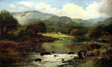 william - A Wooded River Landscape Benjamin Williams Leader