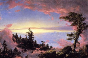 sunset sunrise Painting - Above the Clouds at Sunrise scenery Hudson River Frederic Edwin Church Landscape