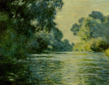 monet banks of the seine Painting - Arm of the Seine at Giverny Claude Monet Landscape