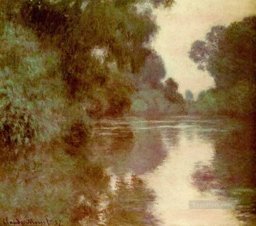 monet banks of the seine Painting - Arm of the Seine near Giverny Claude Monet Landscape