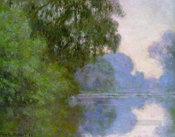 monet banks of the seine Painting - Arm of the Seine near Giverny II Claude Monet Landscape