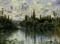 Arm of the Seine near Vetheuil Claude Monet Landscape
