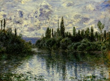 mornings on the seine monet Painting - Arm of the Seine near Vetheuil Claude Monet Landscape