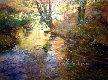 Lake Pond Waterfall Painting - At Quimperle impressionism Norwegian landscape Frits Thaulow